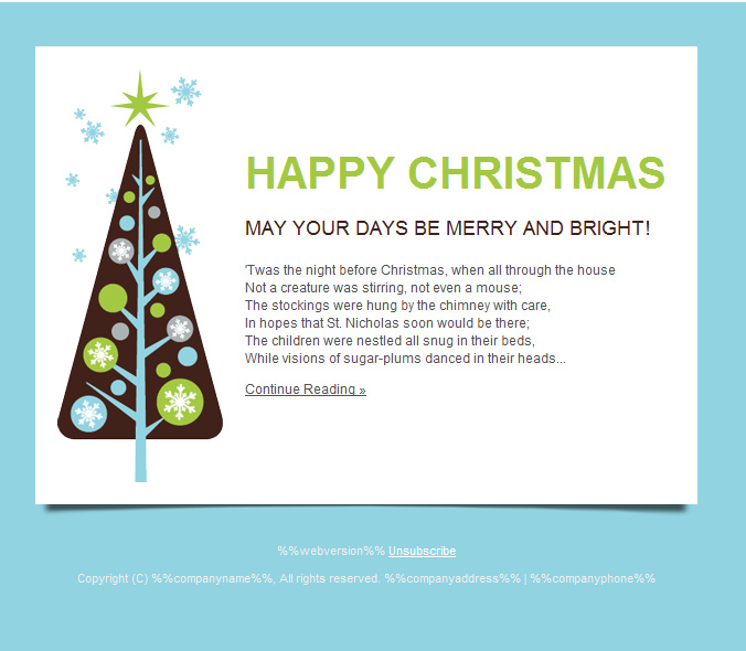 Happy Holidays Email Templates for New Year 2013 & Christmas HTML ...