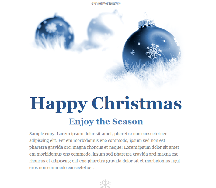 christmas email template